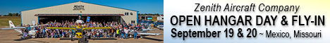 Zenith Aircraft Open Hanger Day and Fly-In: September 19 & 20, 2014
