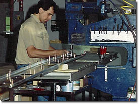 Riveting the wing spars at the factory