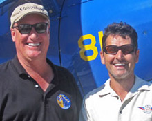 EAA's Rod Hightower with Zenith's Sebastien Heintz