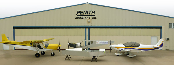 Zenith factory demo aircraft with Quick Build Kit assemblies