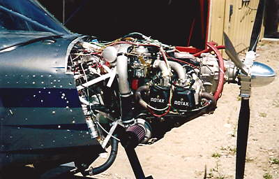 Clarence Wood's Rotax 914 installation