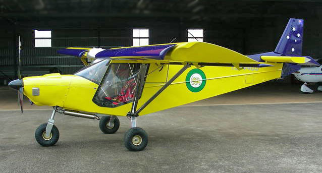 Stol ch 701 with &;super silencer&; exhaust pipe