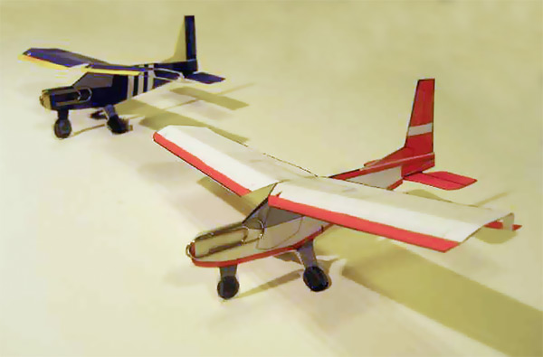 RC scale models of the STOL CH 701  Plans-built r/c and