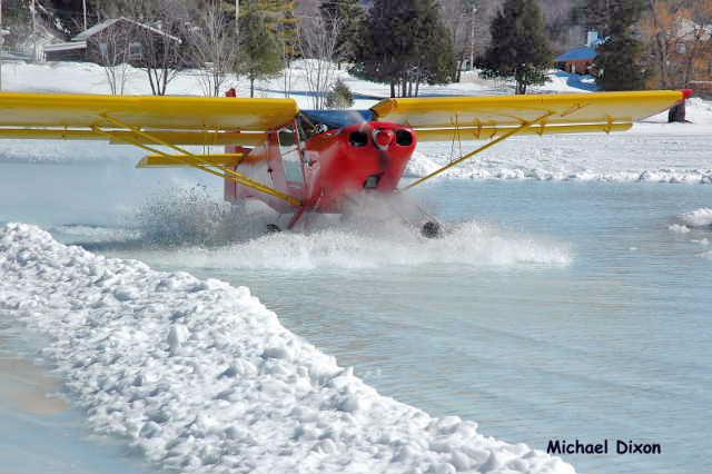 Airplane Landing on Water Water Landing With Skis