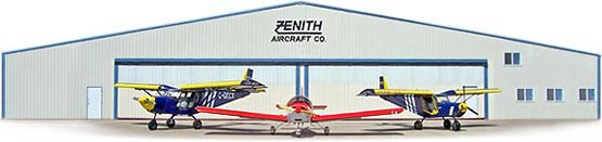 In front of the Zenith Aircraft Company factory (Mexico, Missouri)