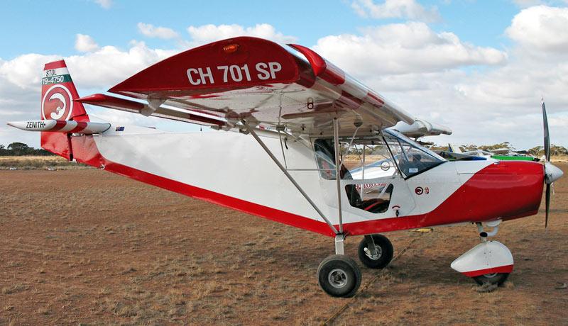 Australian stol ch 701 on a dirt strip