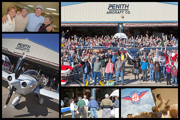 Bottom left: EAA's Rod Hightower conducting a Grassroots Pilot Tour presentation at the Friday Zenith Builder Banquet