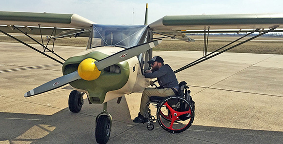 Able Flight pilot Justin Falls