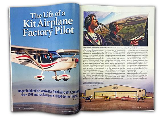 Roger Dubbert in Kitplanes magazine_ June 2017