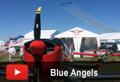 Blue Angels over the Zenith booth