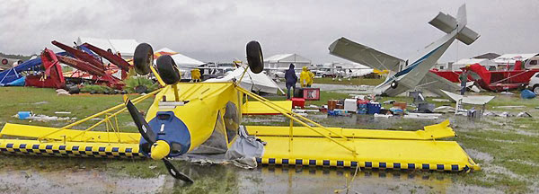Zenith Aircraft Company display after the tornado