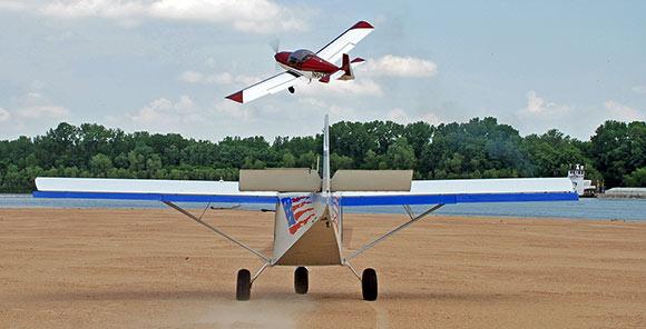 Landing on the sandbar