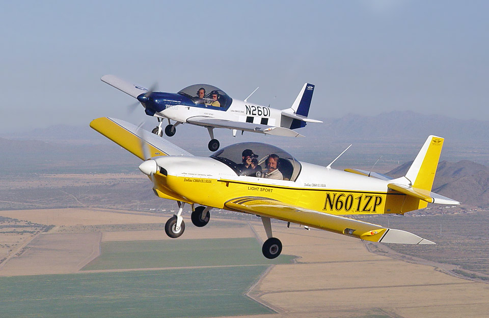 ... Light Sport Aircraft For Sport Pilots, Two ZODIAC XL S LSAs Flying  Formation. Amazing Design